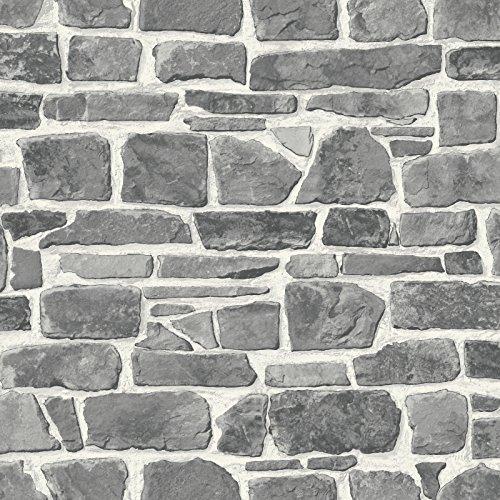 rasch tapeten papiertapete kollektion steine und h lzer grau 265620. Black Bedroom Furniture Sets. Home Design Ideas