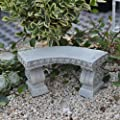 Miniature Fairy Garden Mini Curved Garden Bench by Made in China