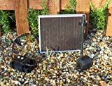 Bradshaws Solar 150 Plus. Solar Fountain Pump with LED lights, Solar Panel, Spray and Bell Jet fountain heads.