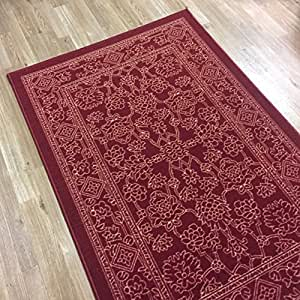 Rubber back non slip 5 39 x 6 39 7 fancy egyptian for Traditional kitchen rugs