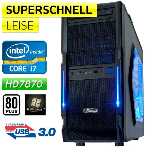 Windows 7 Ultimate 64 |Gamer-PC ECO-TEC Intel Core i7 3770 4x3.4GHz |8GB DDR3-1866 |1500GB SATA3 | MSI HD7870 OC 2GB DX11 PCIe 3.0 |MSI Z77A-G43 Mainboard|BeQuiet 600W Netzteil 80Plus Silber |7.1 Sound |Front-USB3.0 |Sata3 |Xigmatek Gaia SilentCooler