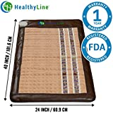 InfraMat Pro™ 3 In 1 Healing Experience - Infrared Heating Mat, Pain Relief (Soft & Flexible - Medium 40? x 24?) Adjustable Temperature Setting | No EMF, FDA, 1-Year Warranty