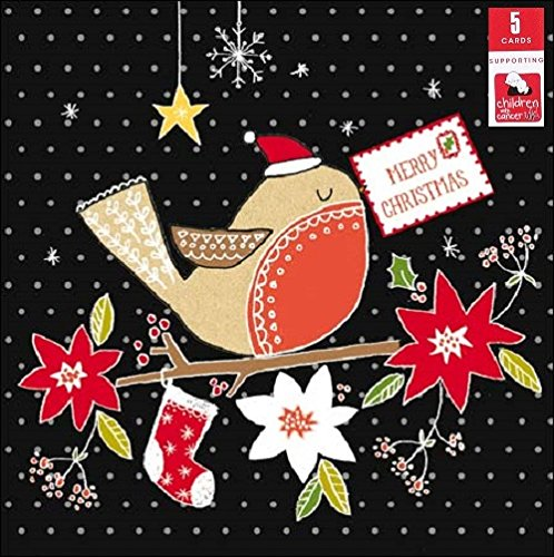 children-with-cancer-pack-of-5-red-robin-charity-christmas-cards-xmas-card-packs