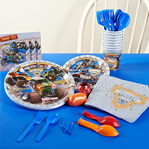 Monster Jam Party Supplies - Basic Party Pack for 8