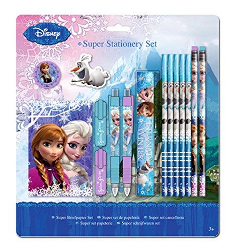 Disney Frozen Die Eiskönigin Kinder Stifte Set Zeichenset mit Bleistift Kugelschreiber Lineal