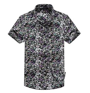 Wantdo Men Printed Short Sleeve Cotton Blend T-shirt 03 by Wantdo Plus Men