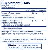 Pure Encapsulations - Curcumin 500 with Bioperine - Hypoallergenic Curcumin C3 Complex with Bioperine - 120 Vegetable Capsules