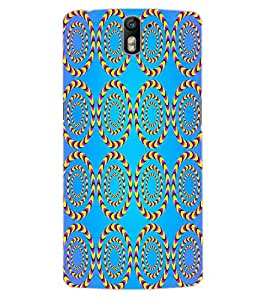 ColourCraft Illusive Design Back Case Cover for OnePlus One