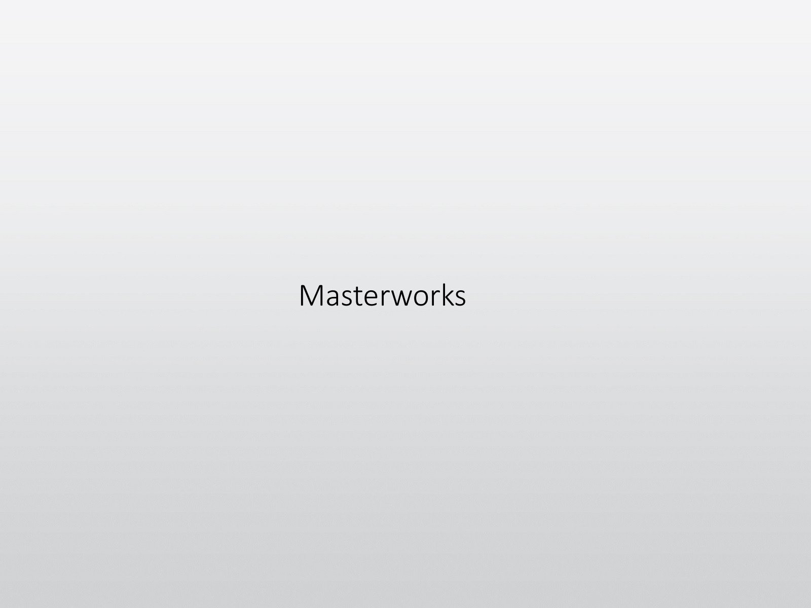Masterworks on Amazon Prime Video UK