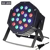 Par Lights, SOLMORE DMX-512 RGB 18 LED Party Lights DJ Disco Lights Sound Activated Stage Lighting for Wedding KTV Show Club Bar Karaoke 18W (Color: RGB)