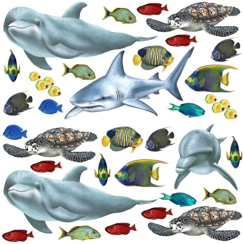 Walls of the Wild Fish Economy Size 48 X 48
