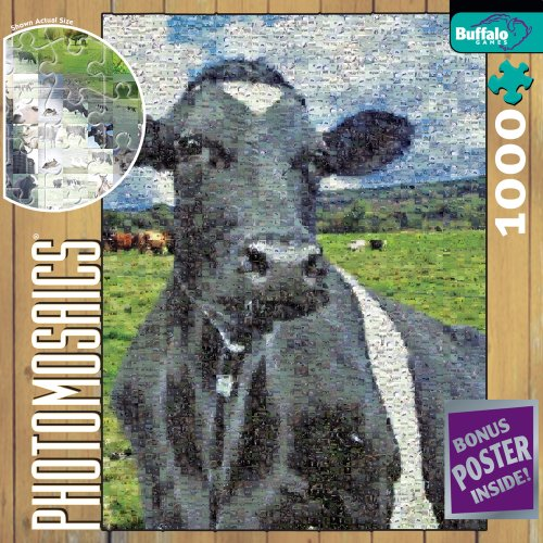 Cheap Fun Buffalo Games Photomosaic: Cow (B000NCBWKW)