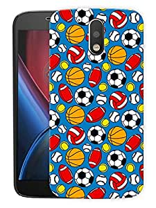 "Game Balls PatternPrinted Designer Mobile Back Cover For ""Motorola Moto G4 PLUS"" (3D, Matte, Premium Quality Snap On Case)"