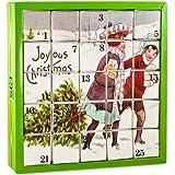 Nostalgie Tee-Adventskalender, 25 Würfel mit BIO-Weihnachtstees in hochwertigen Pyramiden-Teebeutel