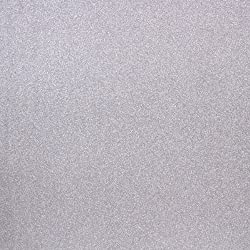 "American Crafts POW Glitter Paper 12""X12"", Solid/Silver(Pack of 1)"