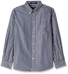 Gant Boys' Shirt (GBSEF0010_Harbour Navy_XL)