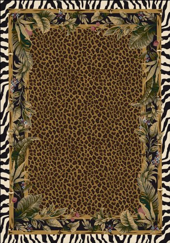 Milliken Rugs Jungle Safari Leopard Zebra Skins c13001 Area Rug