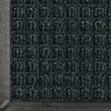 "Andersen 200 WaterHog Classic Polypropylene Fiber Entrance Indoor/Outdoor Floor Mat, SBR Rubber Backing, 5 Length x 3 Width, 3/8"" Thick, Charcoal"
