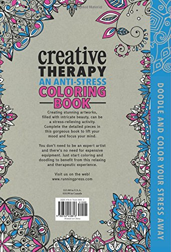 Creative Therapy An Anti Stress Coloring Book Media Books