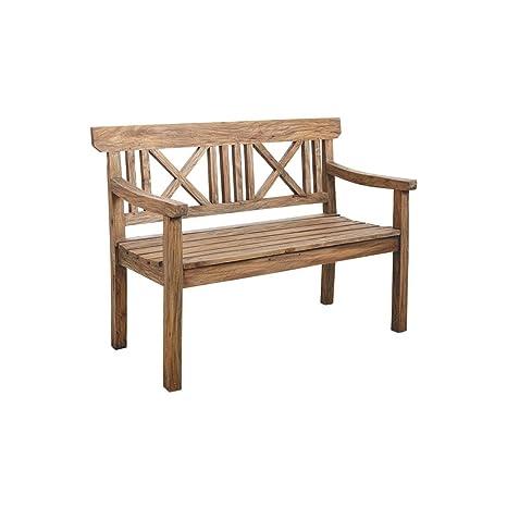 Banc de jardin en bois naturel antique