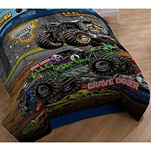 monster jam twin comforter grave digger