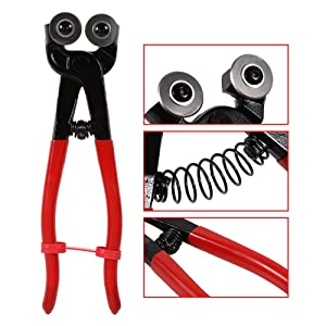 Glass Mosaic Cutter, 8 Inch Heavy-Duty Mosaic Tool Glass Cutting Nipper Wheeled Cutter Pliers Tool for Ceramic Tile (Color: As Pictures Show)