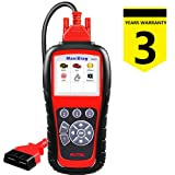 Autel MaxiDiag MD805 OBDii Scanner for Full Systems Engine,Transmission,ABS,Airbag,EPB,Steering Wheel,SAS,BMS,Oil Service Reset,TPMS OBDII Diagnostic Too l- Free Update (Tamaño: MD805)