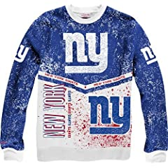New York Giants Mitchell & Ness NFL In The Stands Vintage Crew Sweatshirt by Mitchell & Ness
