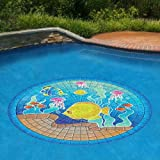 "Tropical Fish Underwater Pool Mosaic - Small 29"" Pool Art"