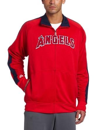 MLB Los Angeles Angels Profector Mock Neck Full Zip Raglan Jacket by Majestic