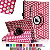 Fintie Apple iPad Air Case - 360 Degree Rotating Stand Case Cover with Auto Sleep / Wake Feature for iPad Air / iPad 5 (5th Generation) - Polka Dot
