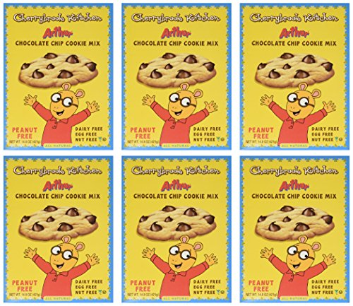 Cherrybrook Kitchen Chocolate Chip Cookie Mix, Peanut Free!, 14.8-Ounce Boxes (Pack of 6)