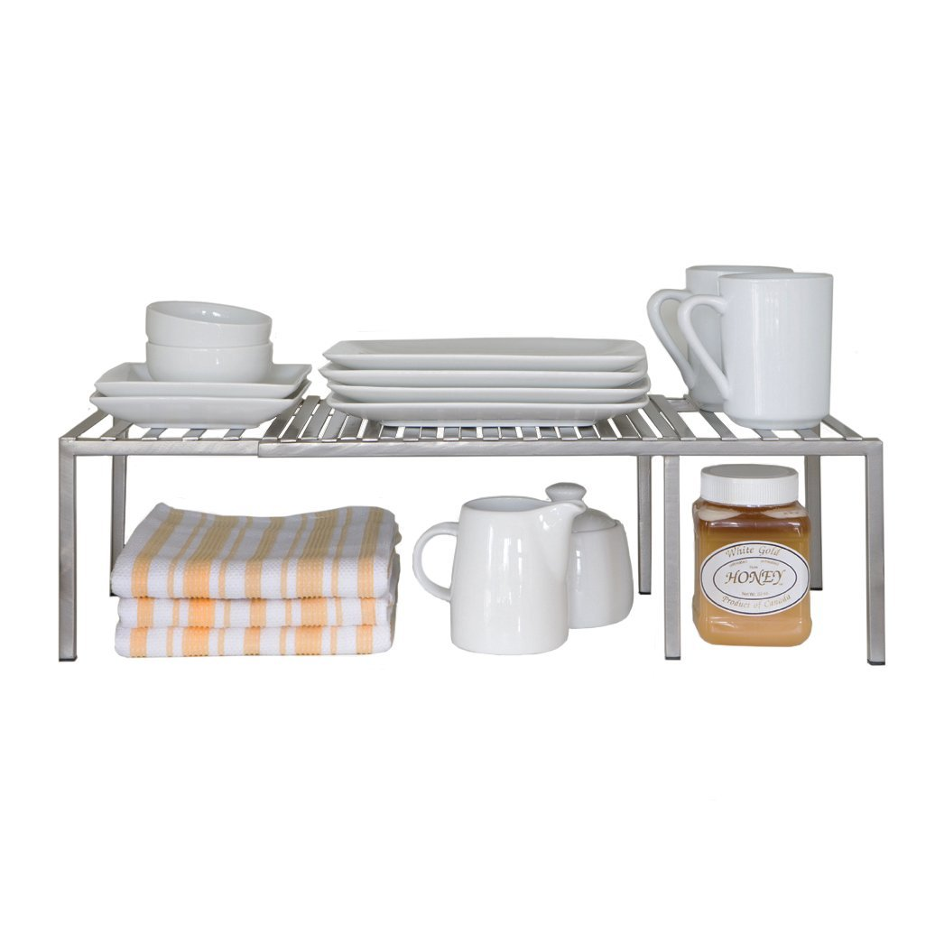 Expandable Kitchen Counter, Cabinet Shelf, Storage Rack