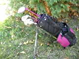AGXGOLF Girls Junior Golf Set w/Stand Bag & Putter; Right Hand 3-7 Age Bracket For heights of 36-46 inches Fast Shipping