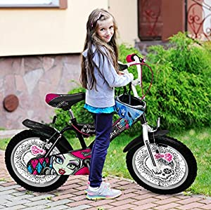 Stamp 16-Inch Monster High Bike with Ball Bearing/Steel Rims (Black)