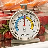 Taylor Food Service Classic Series Large Dial Thermometer, Freezer-Refrigerator