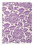 Herbin 83715T Carnet en papier 192 pages A7 Mode fleurs parme