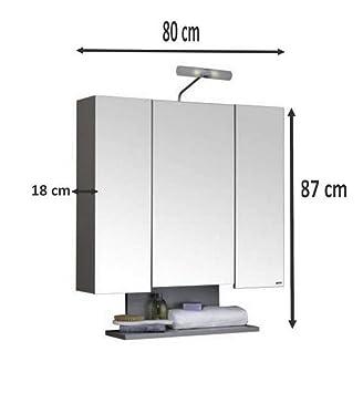 allibert armoire de toilette alt o 80 cm bois 3 portes miroir 6 etag 195 168 res 2 spots 8 cghefghgf