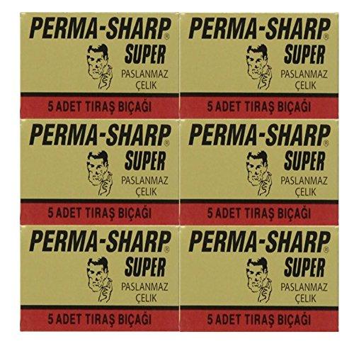 30 Perma-Sharp - Super Double Edge Razor Blades- DELIVERY IN 6 TO 10 DAYS (Perma Sharp Super compare prices)