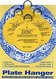 Flatirons Disc Adhesive Medium Plate Hanger Set (4 - 3 Inch Hangers)