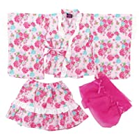 盛夏 Dolly Ribbon(ドーリーリボン) トドラー女児浴衣ドレス3点セット 110cm/ピンク NO.BR-148000