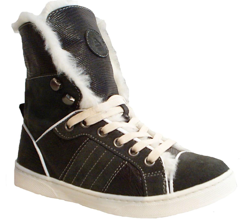 BULLBOXER Stiefel Sneaker Halbschuhe warm grau Leder günstig kaufen