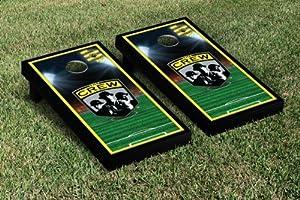Columbus Crew CCSC Cornhole Game Set Soccer Field Version 1 by Gameday Cornhole