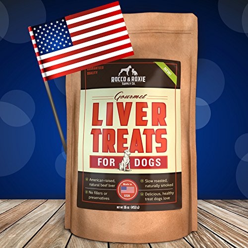 All Natural Liver Dog Treats - Made In Usa Only - Best Slow-Smoked Beef Liver Dog Food In Pet Supplies - Great Dog Training Treats - Gluten-Free, Grain-Free Dog Treats - No Fillers Or Preservatives - 16 Oz. Bag - Health And Delicious Liver Treats Your Dog