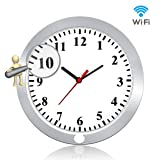 Newwings 1080P WiFi Hidden Camera Wall Clock Wireless Spy Camera Nanny Cam with Motion Detection, Indoor Covert Security Camera for Home and Office (Color: White)