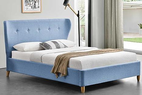 Kensington Blau Stoff geflugelten King Bett