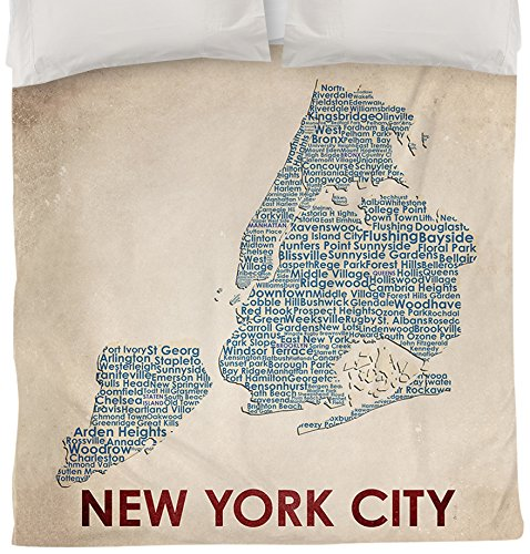 Thumbprintz Duvet Cover, Queen/Full, New York City front-467385