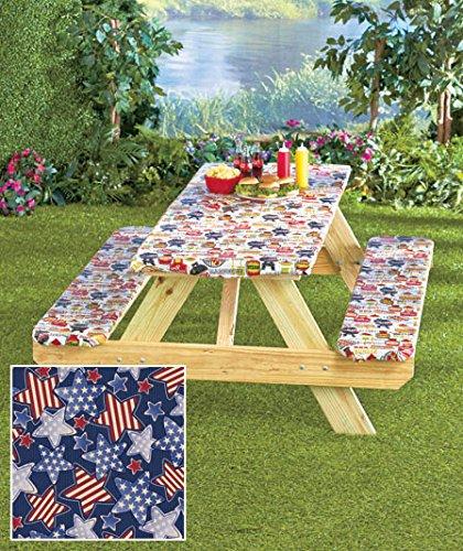 3-Pc. Picnic Table Covers (Americana Stars) (Picnic Seat compare prices)