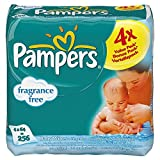 Pampers Natural Clean Fragrance Free Baby Wipes (64 per pack x 4)