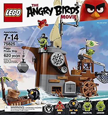LEGO Angry Birds 75825 Piggy Pirate Ship Building Kit (620 Piece) from LEGO